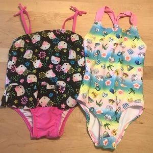 Lot of 2 Girls One Piece Swimsuits
